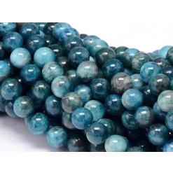 perle ronde en apatite bleue