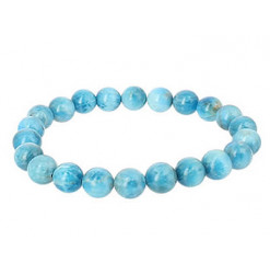 apatite bleue bracelet pierre
