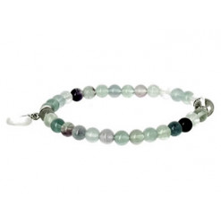 fluorine bracelet perles et coeur
