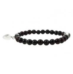 jaspe breschia bracelet perles avec coeur