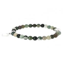 bracelet jaspe héliotrope perles et coeur