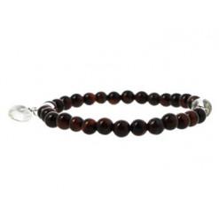 bracelet perles oeil de taureau avec coeur
