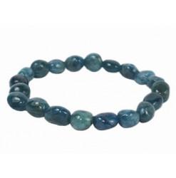 apatite bleue bracelet pierres roulées