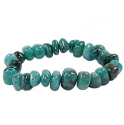 bracelet pierres roulées de cyanite