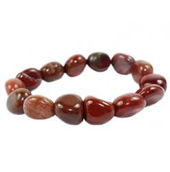 bracelet jaspe breschia pierres roulées