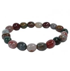 jaspe héliotrope bracelet pierres roulées
