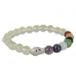 bracelet 7 chakras équilibre cristal de roche