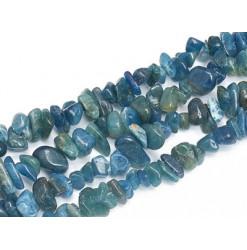 chips de pierre d'apatite bleue
