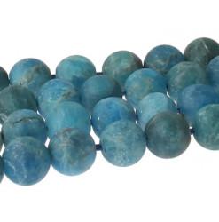perle givrée apatite bleue