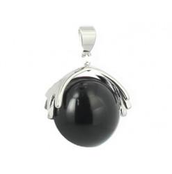 tourmaline noire pendentif perle mano
