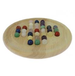 jeu de solitaire avec billes en pierres