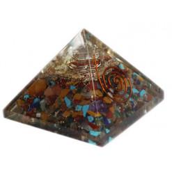 pyramide chakras en orgonite