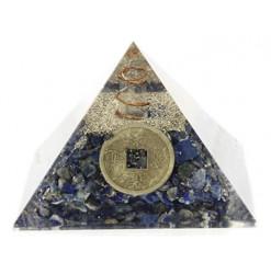 pyramide lapis lazuli en orgonite