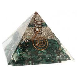 malachite pyramide orgonite