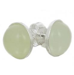 puces oreilles argent jade de chine