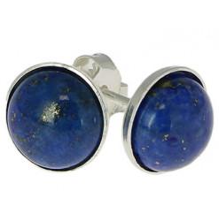 puces oreilles argent lapis lazuli