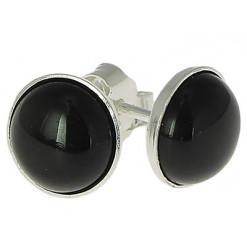 obsidienne oeil céleste puces oreilles argent