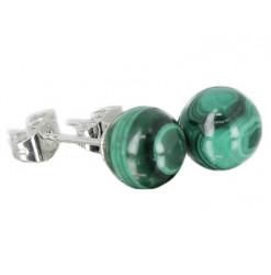 malachite puces oreilles perles