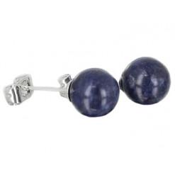 sodalite puces oreilles perles