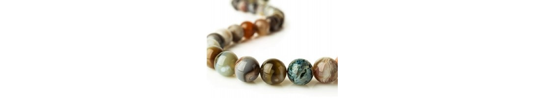 Perles en pierres naturelles rondes création de bijoux  - Zen Desprit