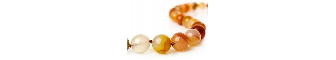 Perles rondes en pierres fines fabrication de bijoux - Zen Desprit