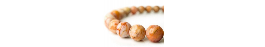 Perles rondes en pierres naturelles pour bijoux - Zen Desprit