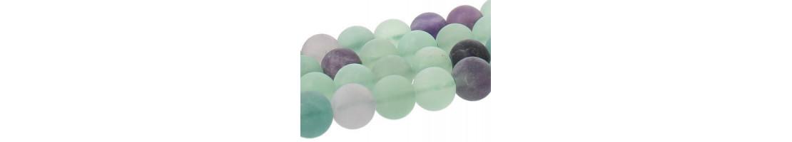 Perles en pierre naturelle givrée pour atelier créatif - Zen Desprit
