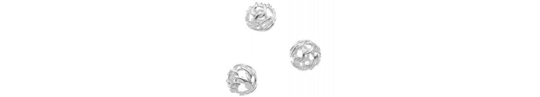 Perles rondes en Argent 925 pour loisirs créatifs - Zen Desprit