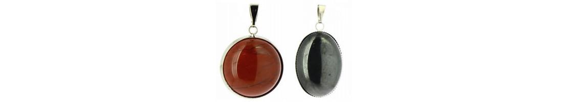 Pendentifs pierres cabochons collection Lapidaire - Zen Desprit