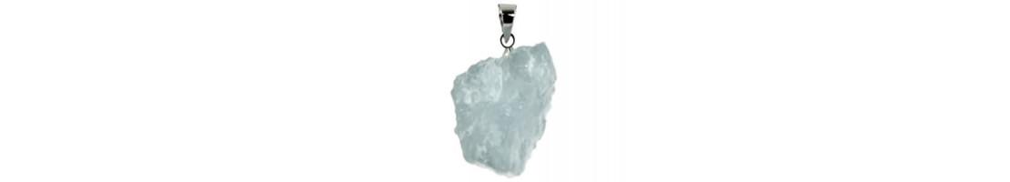 Pendentifs pierres brutes naturelles et cristaux - Zen Desprit
