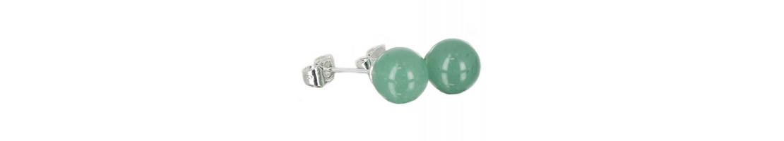 Puces d'oreilles en perles de pierres naturelles - Zen Desprit