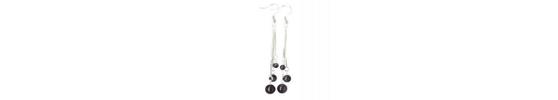 Boucles d'oreilles en perles de pierres naturelles - Zen Desprit